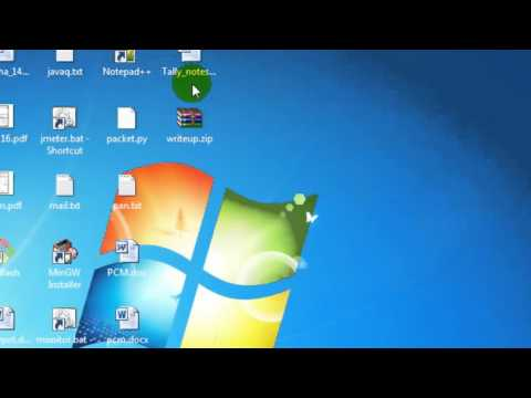 How to make icons smaller in Windows 7