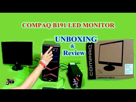 HP Compaq 19 inch LED Monitor Unboxing