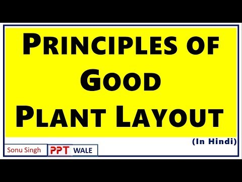 PRINCIPLES OF GOOD PLANT LAYOUT IN HINDI | Meaning | Operations Management | BBA/MBA | ppt