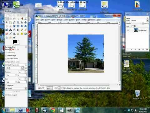 How to crop an image in Gimp