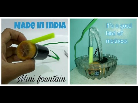 How to make a  water pump for fountain