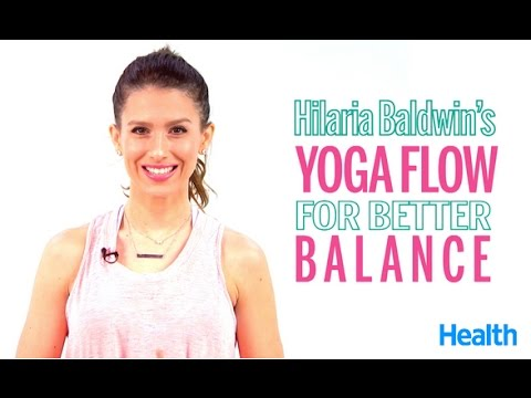 Hilaria Baldwin's Yoga Flow for Better Balance | Health
