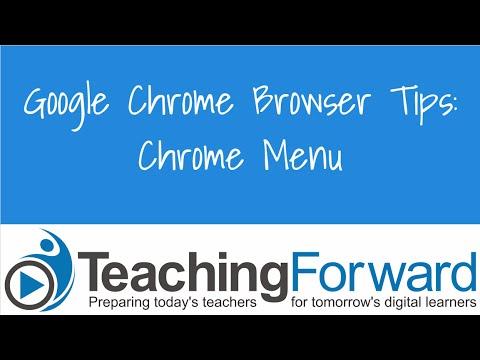 Chrome Browser Menu
