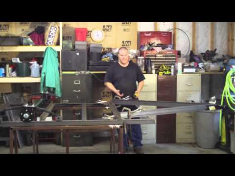 How to Build a Utility Trailer Part 5 Installing the Hitch and Welding the Frame