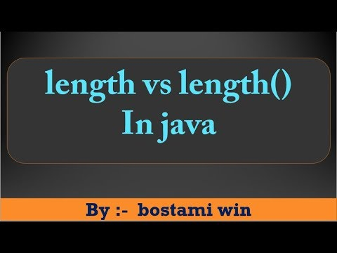 Difference between Length vs Length() in java