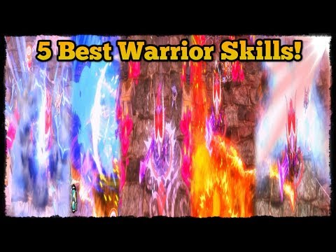 Top 5 Best Warrior Skills! [Happy Dungeons]
