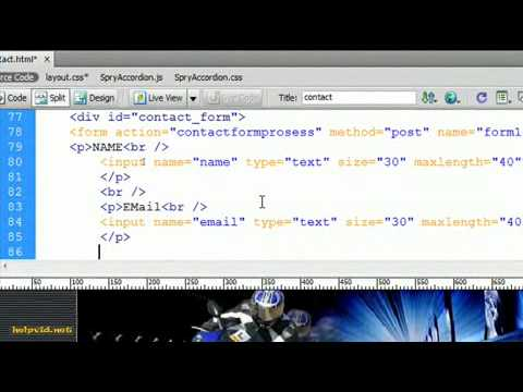 How To Make A Contact Form Page Dreamweaver
