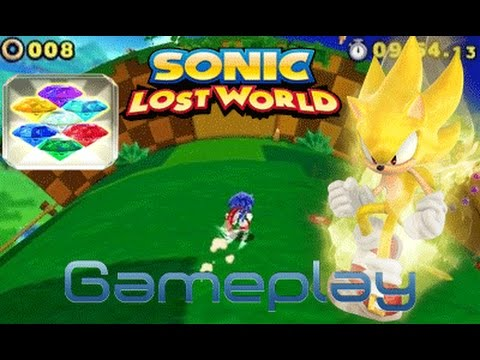 Sonic Lost World SUPER SONIC gameplay(3ds)
