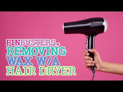 How To Remove Wax With A Blow Dryer // DOES THIS REALLY WORK?