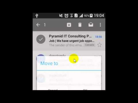 How to move the mail to folder in Gmail Android App