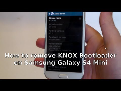 How to remove KNOX Bootloader on Samsung Galaxy S4 Mini firmware (with Linux)