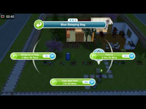 Sims Freeplay - Toss and turn in a sleeping bag