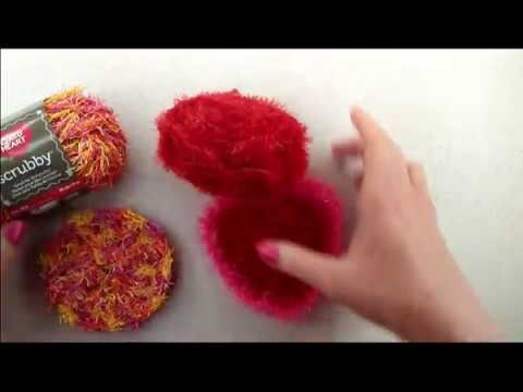 How to Crochet a Heart Shaped Scrubby with Scrubby Sparkle Yarn