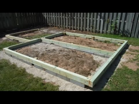 Greenhouse Shed Build Part 3 Foundation