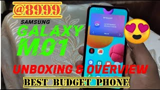 SAMSUNG GALAXY M01- UNBOXING, FIRST LOOK AND OVERVIEW MALAYALAM-NEW RETAIL UNIT