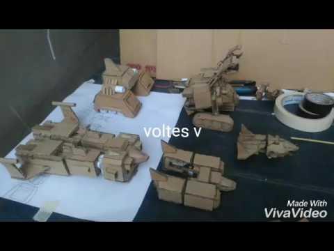 Voltes V cardboard made by dworx