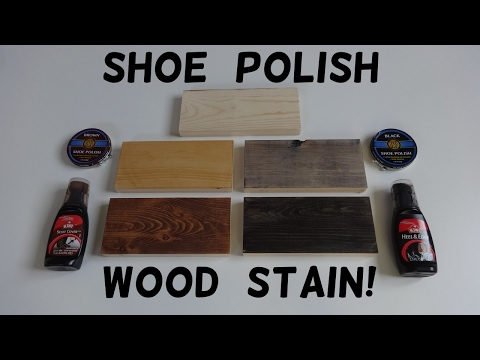 How to Stain Wood with Shoe Polish!
