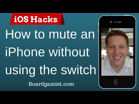 How to mute an iPhone without using the switch - iOS 7