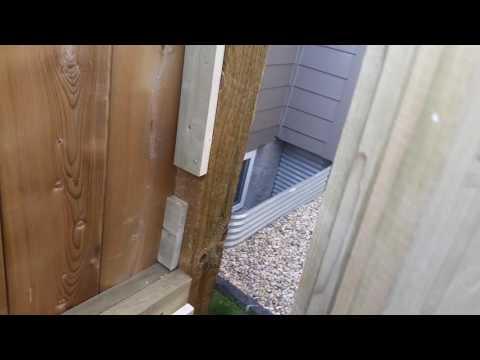 Homemade gate latch