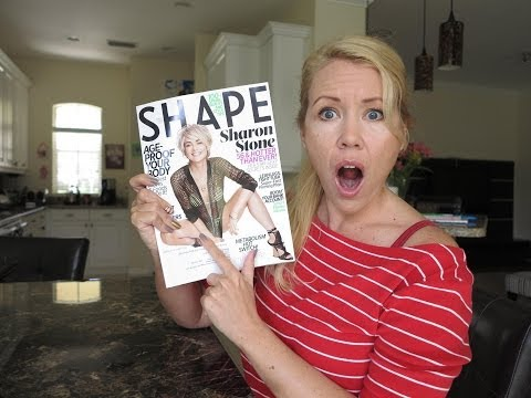 Sharon Stone in a cheap bikini on the Cover of Shape Magazine?  | BEAUTY OVER 40