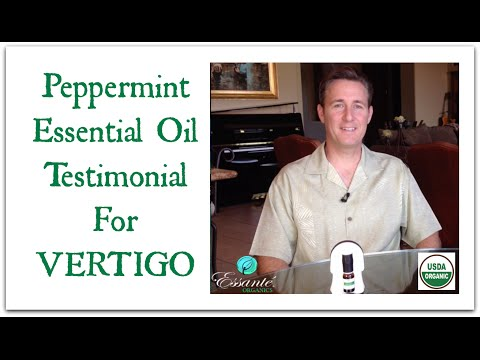 Peppermint Essential Oil Testimonial For Vertigo By Dr. JJ Levine, Essante Organics