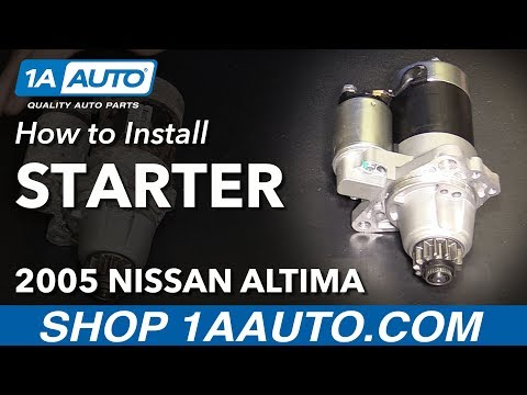 How to Install Replace Starter 2002-06 Nissan Altima L4 2.5L