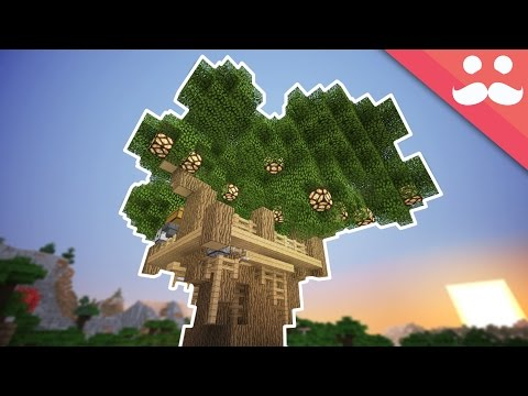 How to make a Redstone TREEHOUSE in Minecraft!