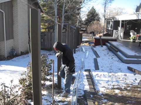 Trex Fencing Installation - Marking fence posts