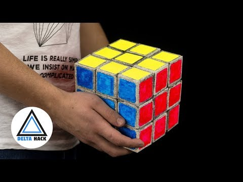 Giant Rubik's Cube From Paper | DIY