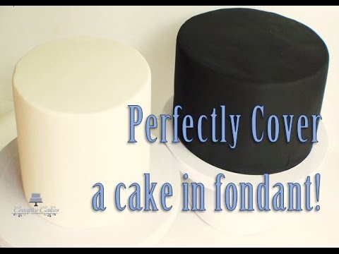 How to Cover a Cake in Fondant from Creative Cakes by Sharon