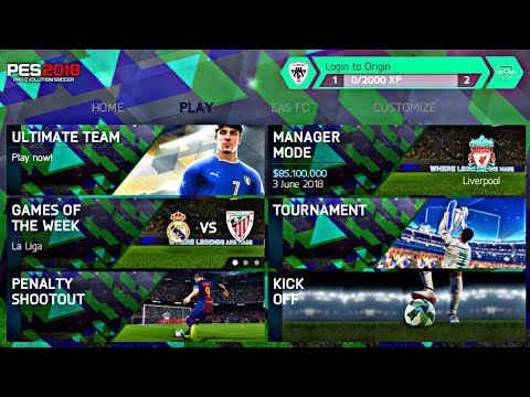 FIFA 14 MOD PES 2018 V.1.2 Android Offline New Mini Kits