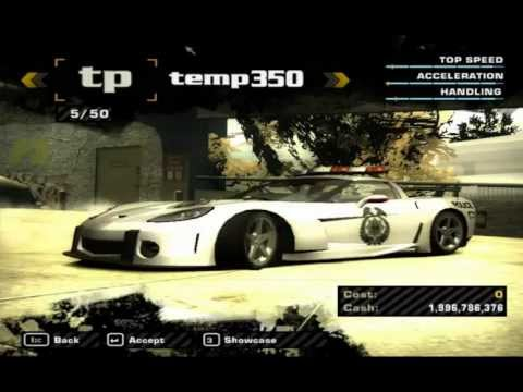 NFS Most Wanted HD Full Car List (+ Cheat Cars)