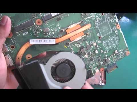 Asus X452  Series disassembly and Fan Cleaning