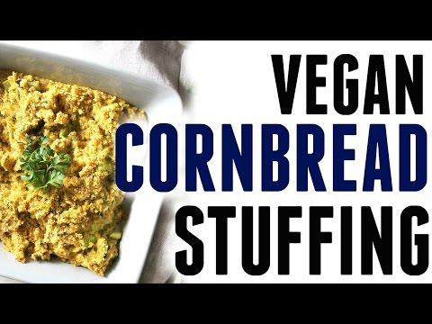 VEGAN THANKSGIVING | VEGAN CORNBREAD STUFFING | This Savory Vegan
