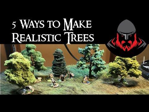 5 Ways to Make Realistic Wargaming Trees