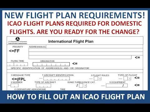 ICAO Flight Plans for Domestic Flights