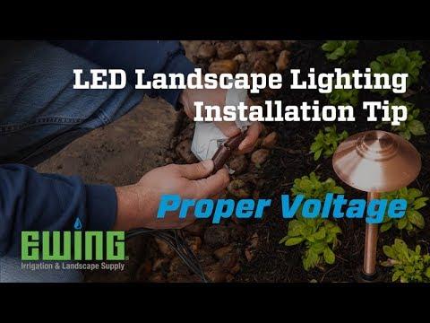 LED Landscape Lighting Installation Tips  - Proper Voltage