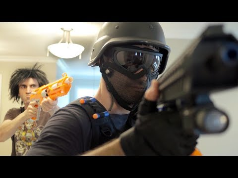 NERF WAR: SWAT TEAM!