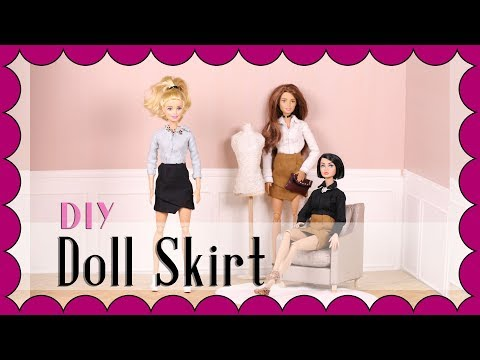 How to make doll clothes ( Tutorial ) - Barbie skirt