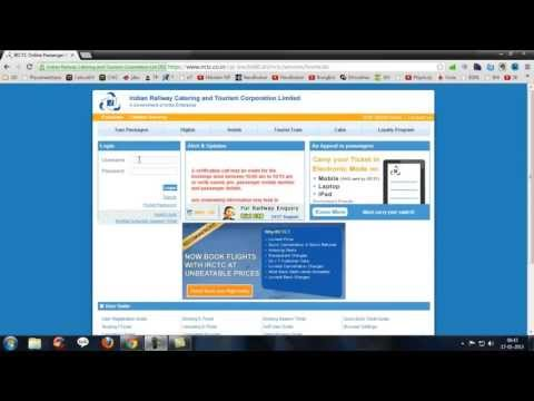 Irctc Tatkal Ticket Booking Trick