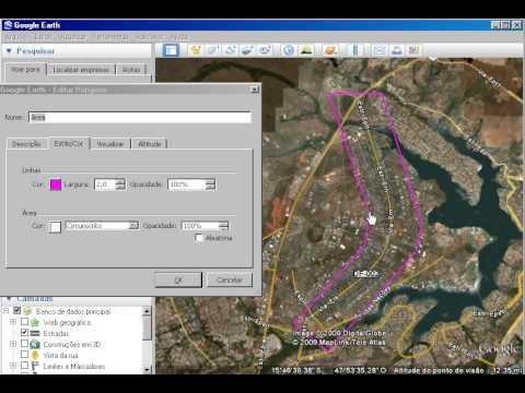 Usando Google Earth para Editar Vértices de um Polígono
