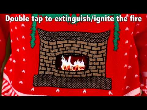 Knitted Crackling Fireplace Ugly Christmas Sweater- Digital Dudz Christmas 2013