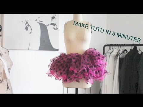 How to make a tutu NO SEW FULL TULLE SKIRT easy 5 min project