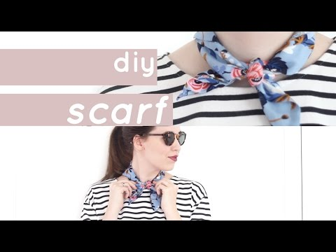 DIY Neck Scarf: How to Make a Vintage Inspired Scarf | Chic Éthique