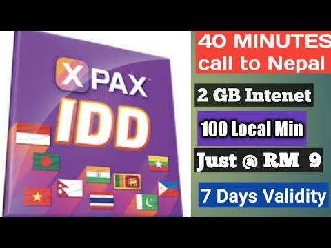 free calling Nepal from idd  celcom