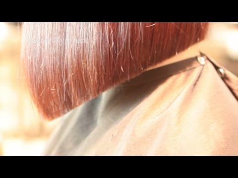 A line bob hair cut by Bruce Kushnick of beauty by bruce