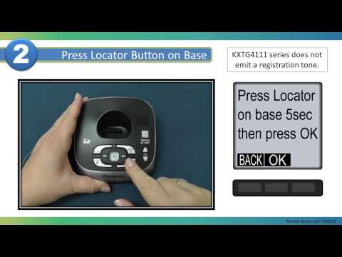 2013 Models - How to Register the handset of your Panasonic Cordless telephone