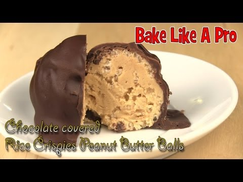 Chocolate Covered Rice Krispies Peanut Butter Balls