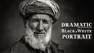 Dramatic Black and White Portrait Photoshop Tutorial   Darkness Photo Effects