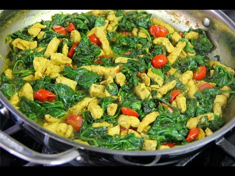 20 Minute Curry Chicken With Spinach | CaribbeanPot.com